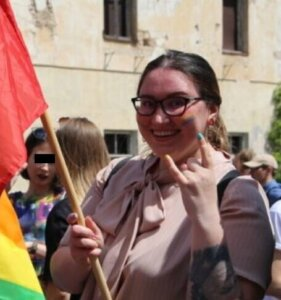 Evelina Dobrovolska na Baltic Pride 2019/YouTube